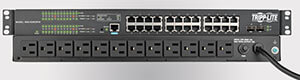 1U gigabit ethernet switch pdu combo
