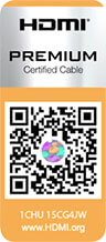 HDMI premium certified cable QR code