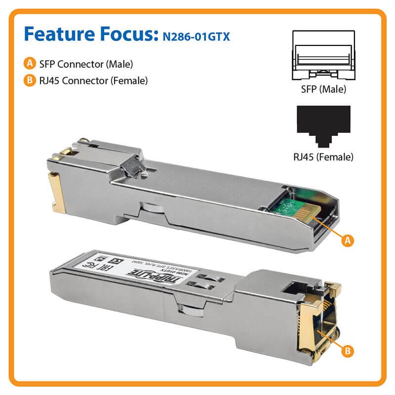 Cisco GLC T Compatible 1000Base T RJ45 SFP Mini Transceiver GbE