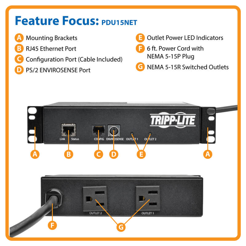 TAA Compliant 1.4kW Single Phase Mini Switched PDU 120V Outlets 2 5 ...