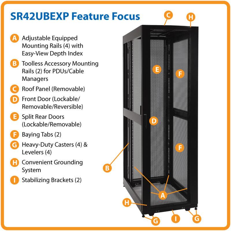 42u Smartrack Expandable Standard Depth Server Rack