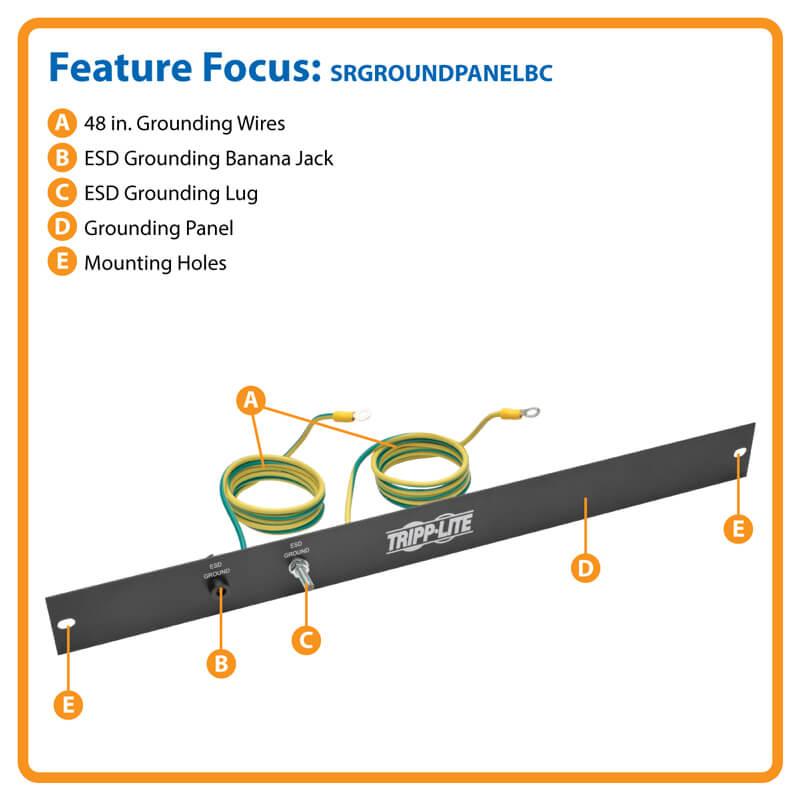 Smartrack 1u Esd Grounding Panel Srgroundpanelbc Tripp
