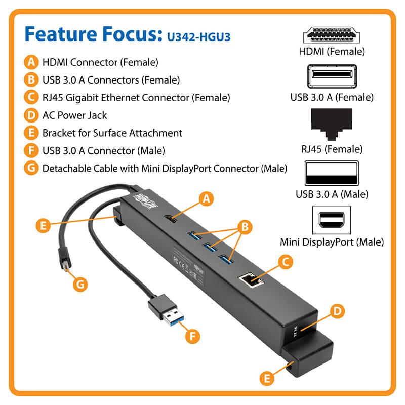 USB 3 0 Docking Station Microsoft Surface Surface Pro USB A