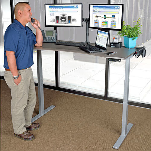 Fine Adjustable Height Standing Desks Sit Stand Desks Tripp Lite Interior Design Ideas Apansoteloinfo