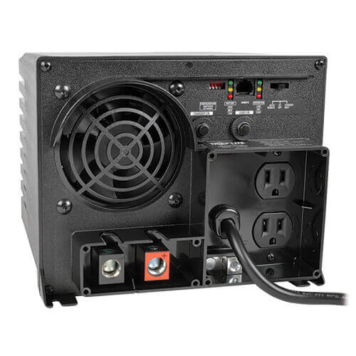 750w Verter Aps 12vdc 120v Inverter Charger With Auto Transfer Switching 2 Outlets