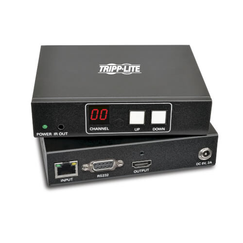 Convert HDMI over IP or DVI over IP to a display through an Ethernet
