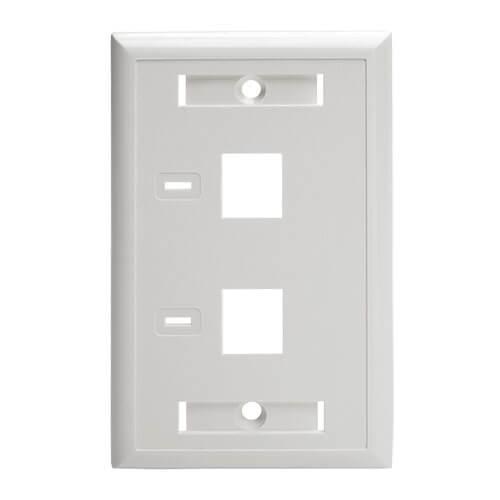 3-Port Keystone Jack RJ45 CAT Network Faceplate Wall Plate White w//Windows