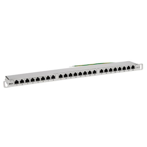 Cat5e Cat6 24 Port Patch Panel Shielded Rj45 Rack Mount Tripp Lite