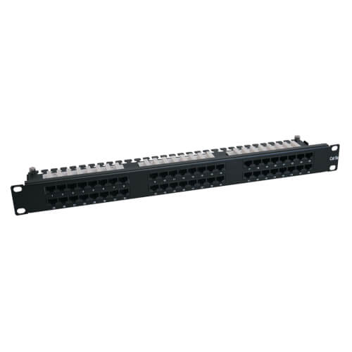1U Rack Mount Cat6 110 High Density Patch Panel 568B RJ45
