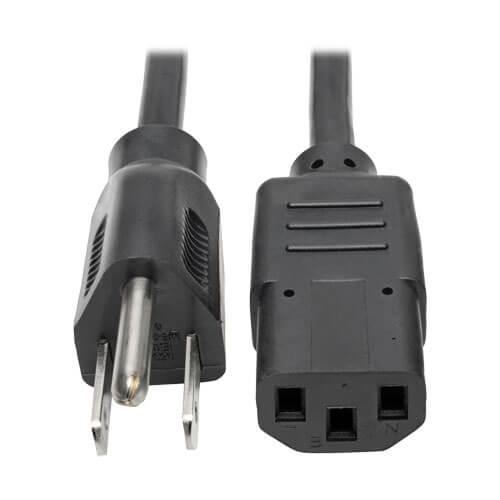 3ft Hospital Grade Power Cord NEMA 5-15P to IEC320 C13 18AWG Gray//Blue
