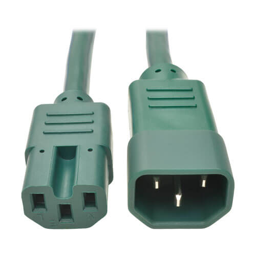 c14 to c15 power cable heavy duty 15a 14 awg 2 ft green tripp rh tripplite com