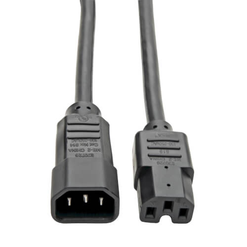 Tripp Lite 3ft Computer Power Cord Cable C14 to C15 Heavy Duty 16A 14AWG 3/'