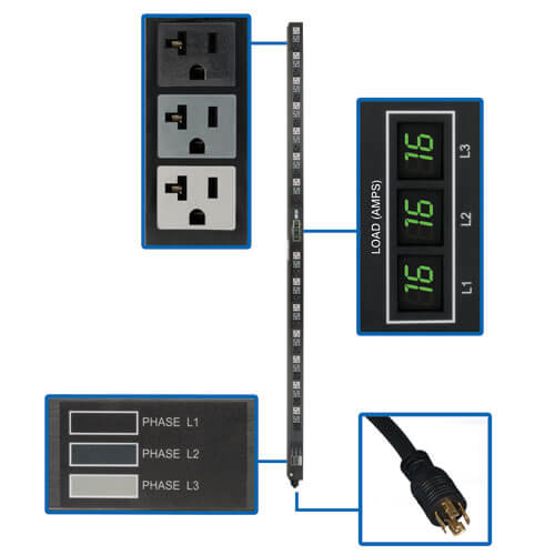 PDU3MV6L2120LV callout large image | Power Distribution Units (PDUs)