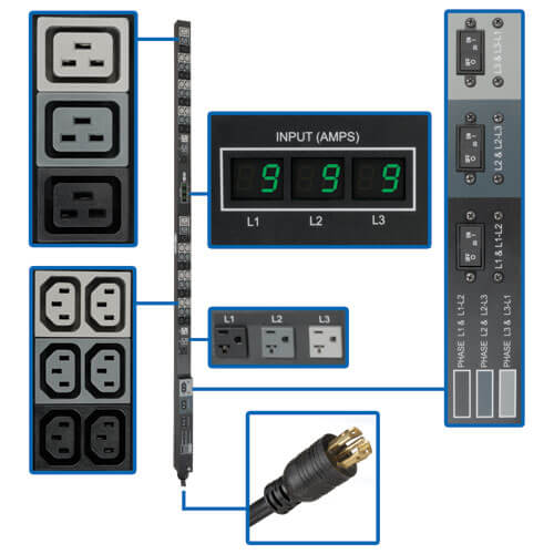 PDU3MV6L2130 callout large image | Power Distribution Units (PDUs)