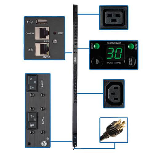 Tripp Lite PDUMV20HV PDUMV20HV PDU Metered 208V 240V 20A 38 Outlet