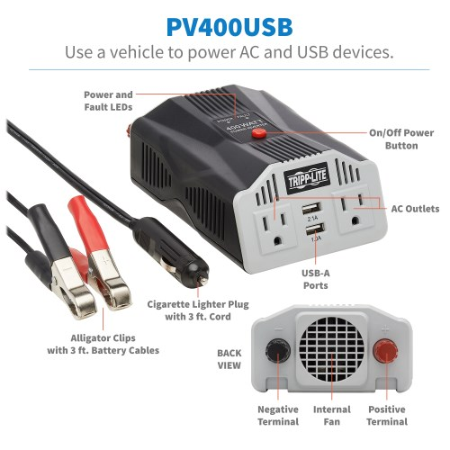PV400USB other view large image | Power Inverters