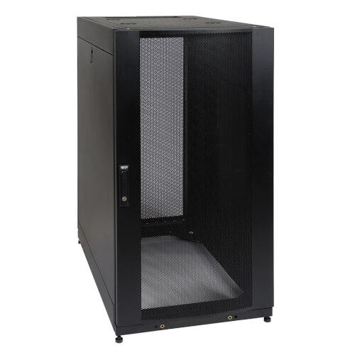 25u smartrack standard-depth server rack enclosure cabinet with doors &  side panels