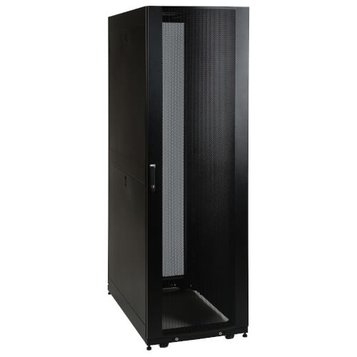 42U SmartRack Standard Depth Server Rack Enclosure Cabinet With Doors U0026  Side Panels