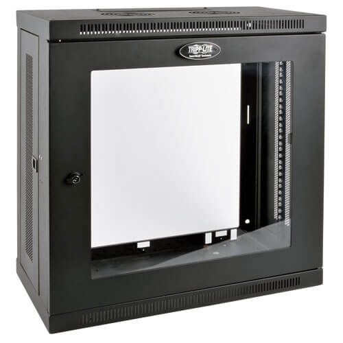 Server Rack Cabinet Patch Depth Wall Mount 12u Window Tripp Lite