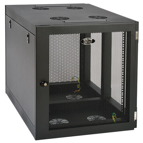 12u Server Rack Cabinet Server Depth Wall Mount Side Mount Tripp Lite