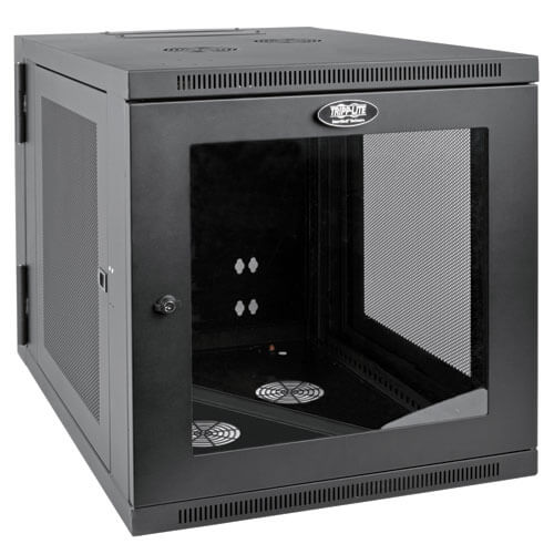 12u Server Rack Cabinet Server Depth Wall Mount Window Tripp Lite