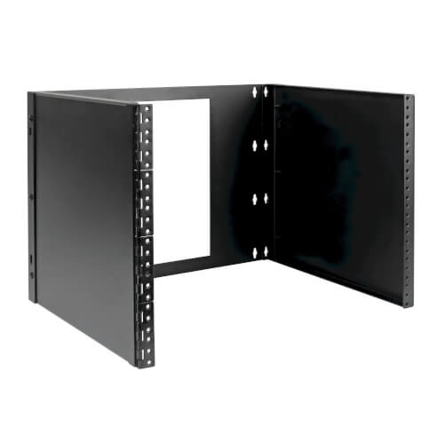 8u Wall Mount Bracket For Small Switches And Patch Panels Hinged