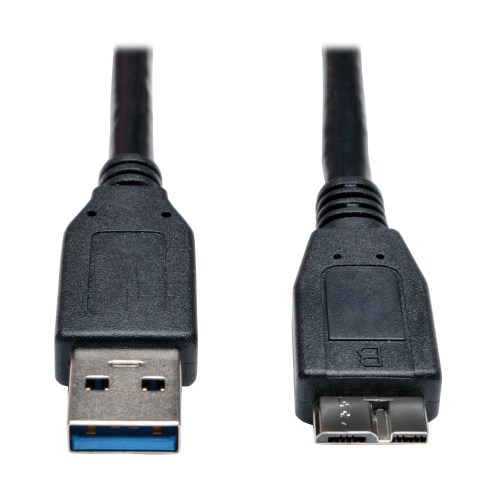 Black USB 3.0 SuperSpeed Device Cable Tripp Lite U326-001-BK 1 ft A to Micro-B