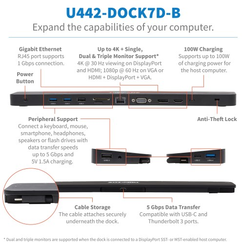 U442-DOCK7D-B other view large image | Docks, Hubs & Multiport Adapters