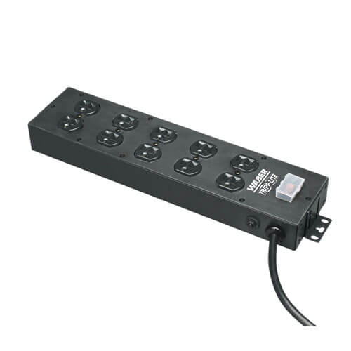 Waber By Tripp Lite 10 Outlet Industrial Power Strip 15 Ft