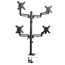 quad full motion flex arm desk clamp for 13 inch to 27 inch monitors