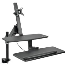 WWSS1327CP single-monitor desk clamp workstation