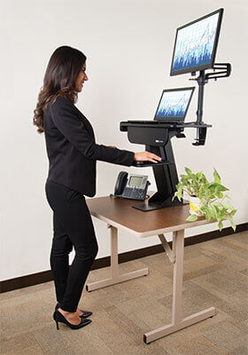 WorkWise adjustable-height workstations