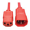 PDU Power Cord, C13 to C14 - 10A, 250V, 18 AWG, 2 ft. (0.61 m), Red P004-002-ARD