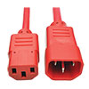 PDU Power Cord, C13 to C14 - 10A, 250V, 18 AWG, 3 ft., Red P004-003-ARD