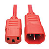 PDU Power Cord, C13 to C14 - 10A, 250V, 18 AWG, 6 ft., Red P004-006-ARD