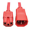 Power Cord C14 to C15 - Heavy-Duty, 15A, 250V, 14 AWG, 2 ft. (0.61 m), Red P018-002-ARD