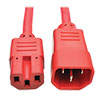 Power Cord C14 to C15 - Heavy-Duty, 15A, 250V, 14 AWG, 3 ft. (0.91 m), Red P018-003-ARD