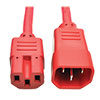 Power Cord C14 to C15 - Heavy Duty, 15A, 250V, 14 AWG, 6 ft., Red P018-006-ARD