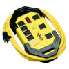 Protect It! 8-Outlet Industrial Safety Surge Protector, 12-ft. Cord, 1500 Joules, Cord Wrap, Hang Holes TLM812SA