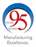 over 95 years of manufacturing excellence